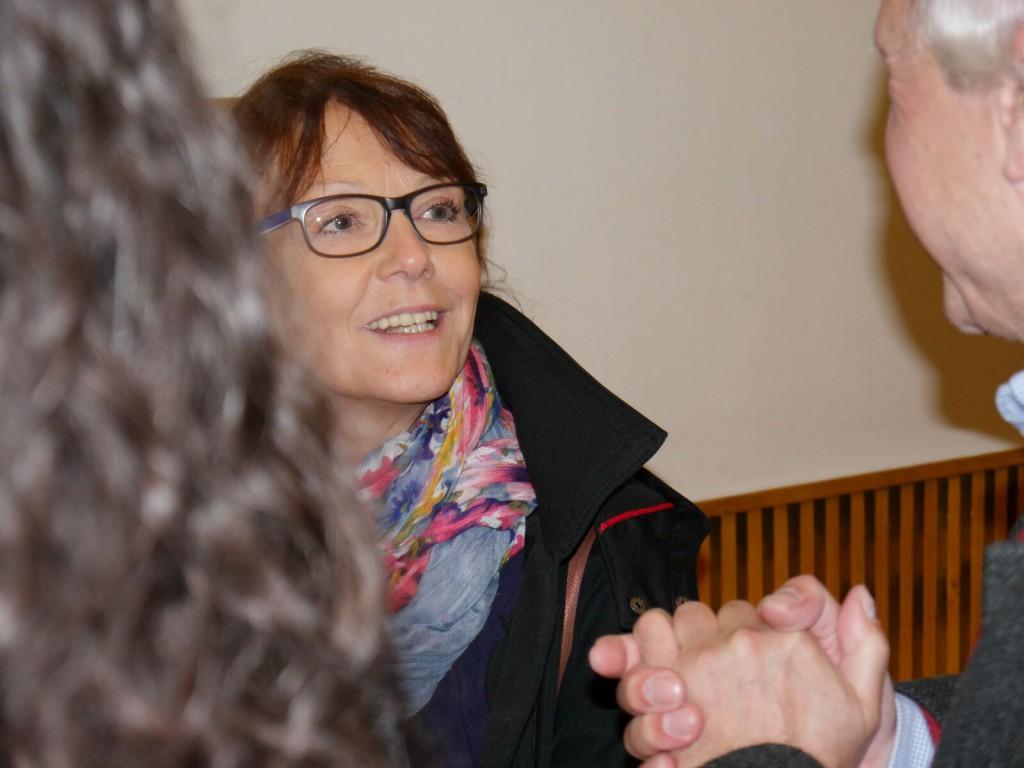Fraktionsvorsitzende Sabine Boeddinghaus im Gespräch