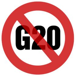 G20-aufkleber ohne logo