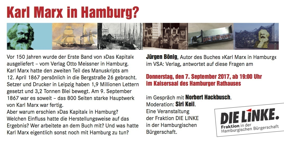 Karl marx in hamburg der produktionsprozess des kapital for Marx hamburg