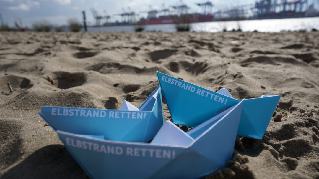 Elbstrand retten! Foto: Jochen Wolfart / www.elbstrand.hamburg/retten/