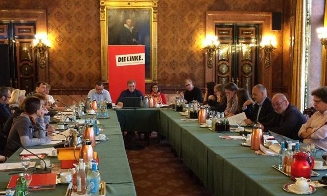Die Tagung der Fraktionsvorsitzendenkonferenz in Hamburg am 14. Oktober 2017 im Hamburger Rathaus.