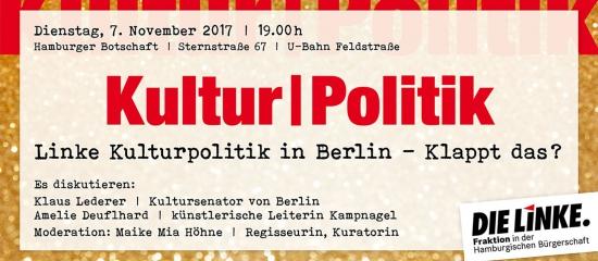 Diskussion mit Lederer/Deuflhard: Was kann linke Kulturpolitik in Berlin?