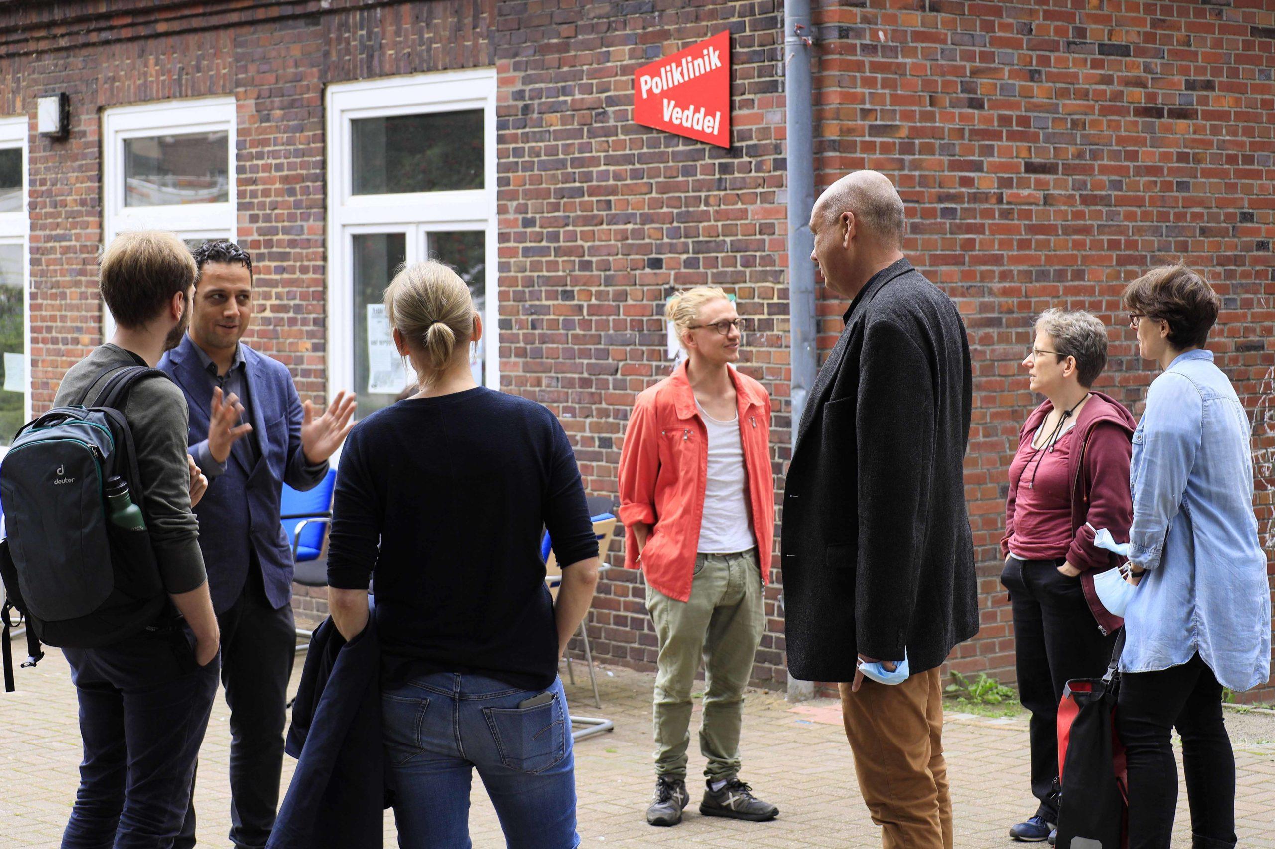 Im Gespräch mit der LINKEN: Poliklinik Veddel