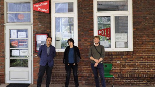 Deniz Celik, Claudia Bernhard und Nelson Janßen